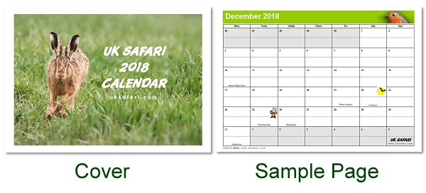 UK Safari Calendar